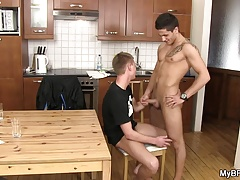 Dude rides gay boyfriend's cock