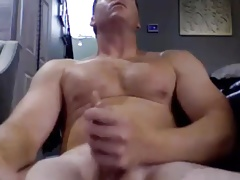 young dad playing with his cock