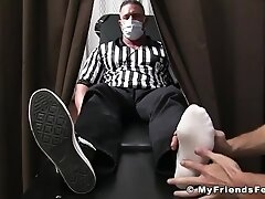 'Muscle hunk toe sucking and sole licking worship fetish'