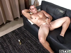 Duty Gay Max Jerks His Hard Dick