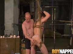 Bound blindfolded slave Alex Faux wax tormented by master|38::HD,63::Gay,1911::Blowjob,1961::Cum Shot,2001::Fetish,2141::Twink