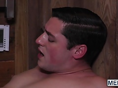 Hot gay guys Clark Campbell and Damien Stone ass bang wildly