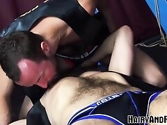 'HAIRYANDRAW Alex Hawk Blows Cock Before Jocks Fucks His Hole'