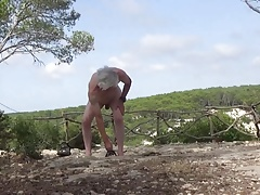 Naked wank in menorca