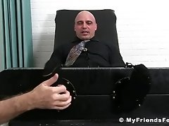 Bald hunk enjoys is feet and body tickling by an older dude|38::HD,63::Gay,1921::Bondage,1991::Feet,2001::Fetish,2041::Hunks,2081::Muscular
