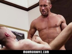 MormonBoyz - Hot Daddy Fucks a Guy In the Office|38::HD,63::Gay,1871::Bareback,1911::Blowjob,1971::Daddy,2081::Muscular