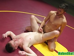 Inked wrestling hunks cocksucking and fucking