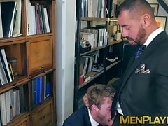Thomas Thunder pounds doggystyle bearded young coworker