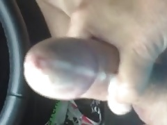 Cum in the car