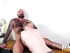 'BEARFILMS Inked Bear Cooper Roads Barebacks Young Bottom'