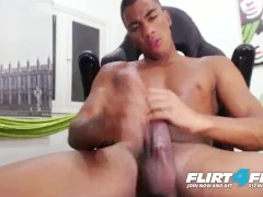 Flirt4Free - Tato Gari - Blatino Stud Gives His BBC a Hard Whack