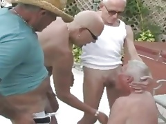 Grandpas in threesome