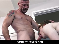 Doctor Step Dad Teach Fucking His Twink Step Son