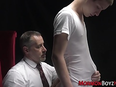 Gay mormon twink spanked