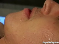 Twink hosed down with piss before anal|63::Gay,1911::Blowjob,2011::Group,2141::Twink